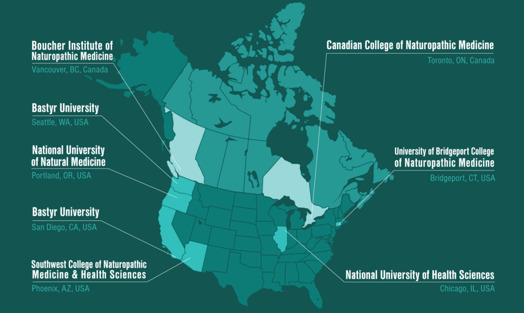 Your Career In Naturopathic Medicine Starts Here AANMC - Osteopathic medical schols in us 2017 map