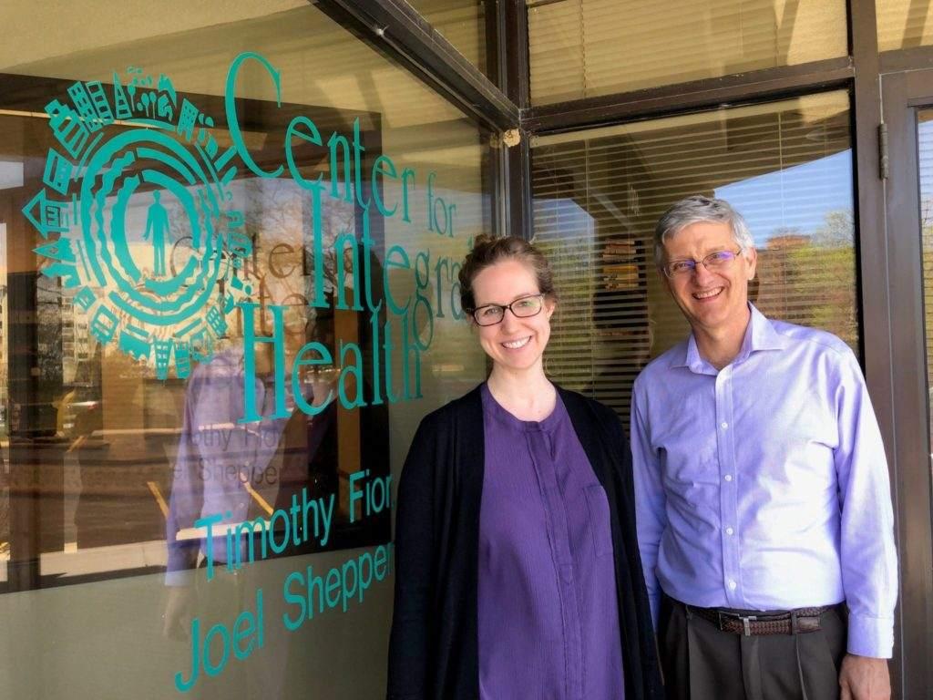 Dr. Fior & Dr. Krebs standing outstide center for integral health
